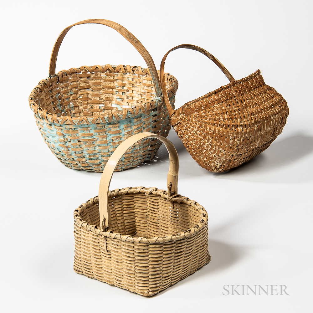 Three Painted Baskets
