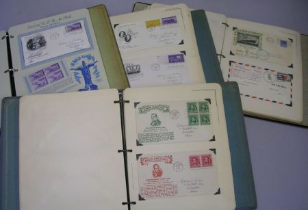 Four Albums of Postage Stationary, WWII Mail, First Day Covers, Postal Cards, and Miscellaneous Postage.