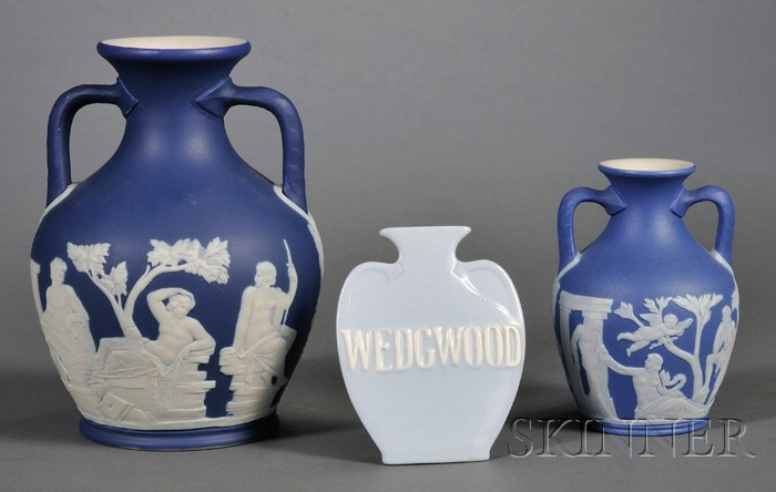 Three Wedgwood Portland Vase Related Items