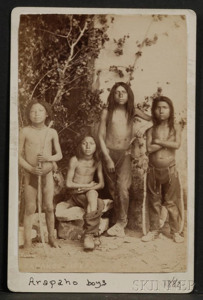 Cabinet Card of Arapaho Boys