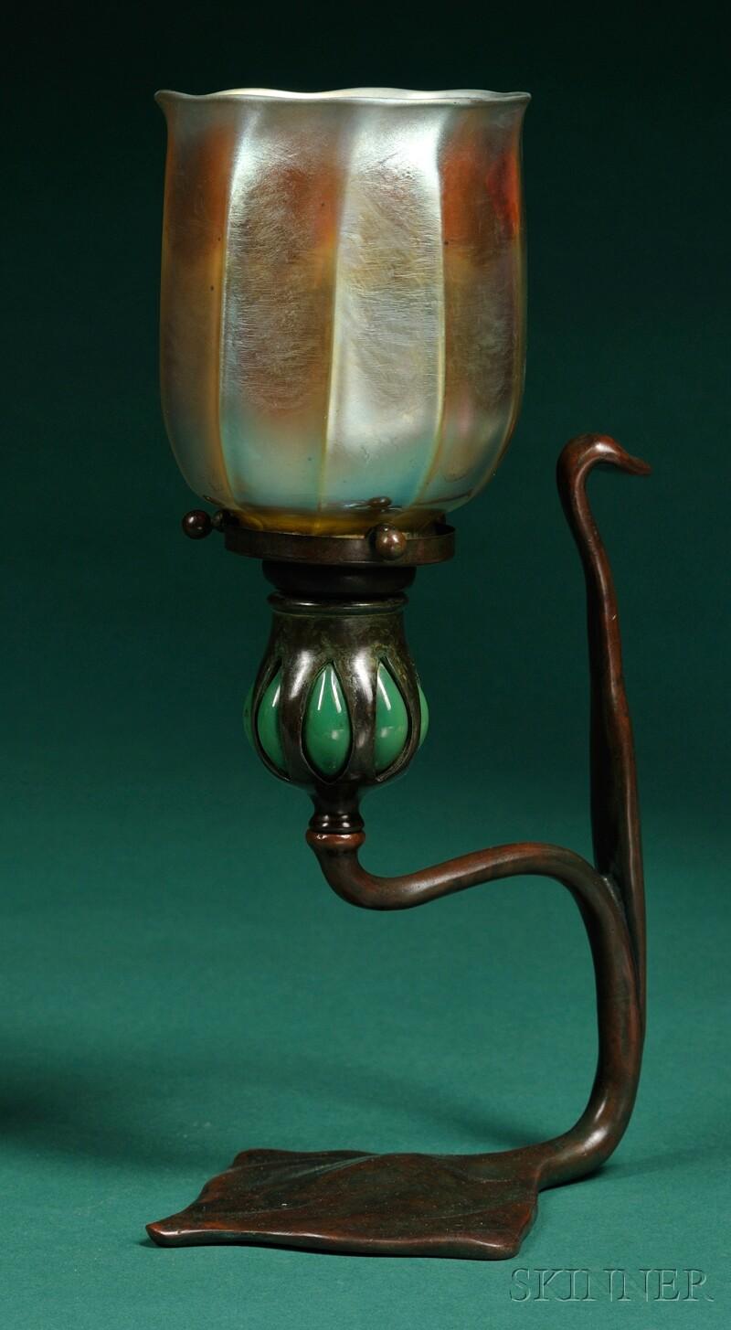 Tiffany Studios Candlestick and Shade