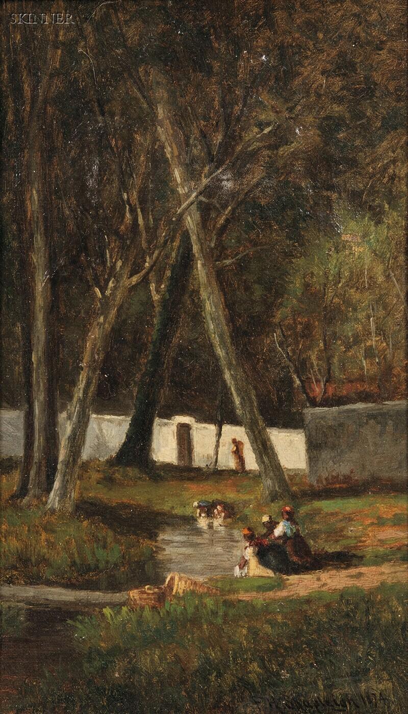 Frank Henry Shapleigh (American, 1842-1906)      Washerwomen