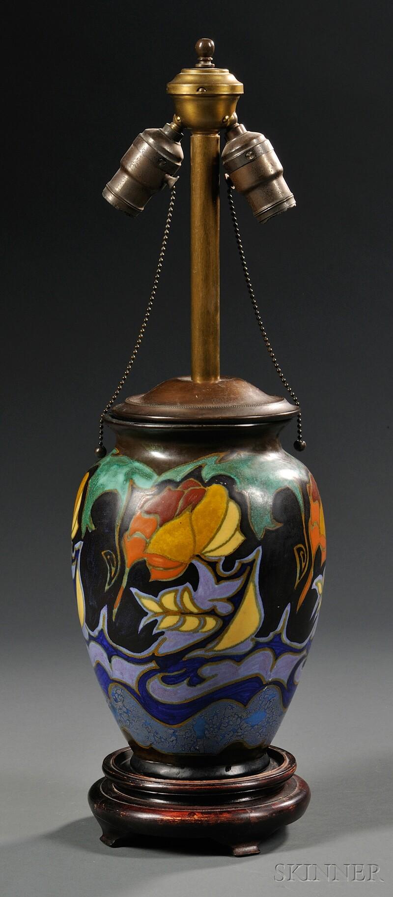 Zuid Holland Gouda Pottery Matte Glaze Lamp Base