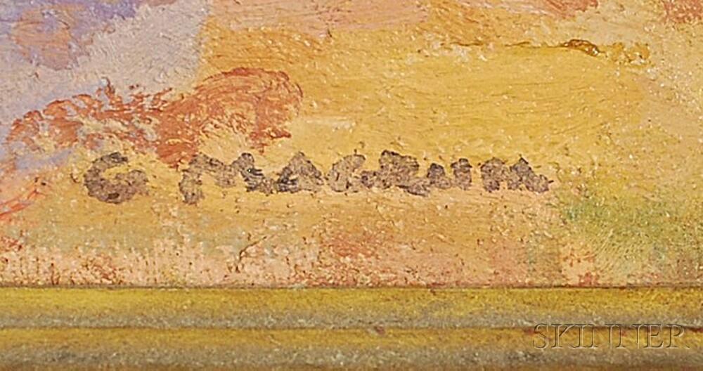 George Herbert Macrum (American, 1878-1970)      Two Paintings:   Bay of Calvi, Corsica