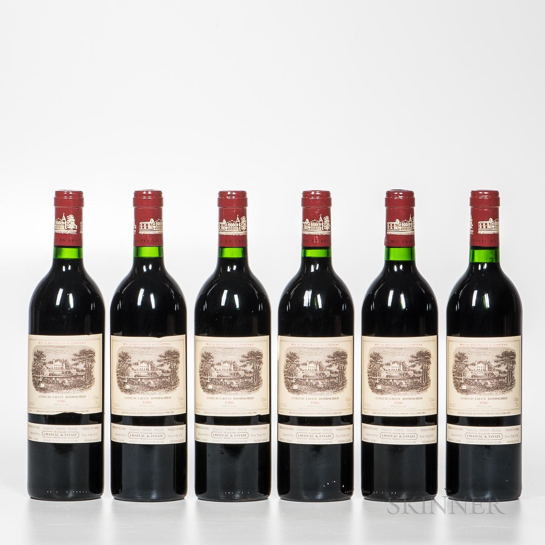 Chateau Lafite Rothschild 1986, 6 bottles