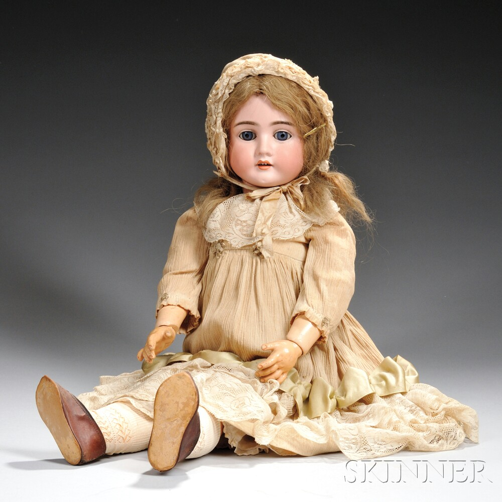 Large Kley & Hahn Bisque Head Girl Doll