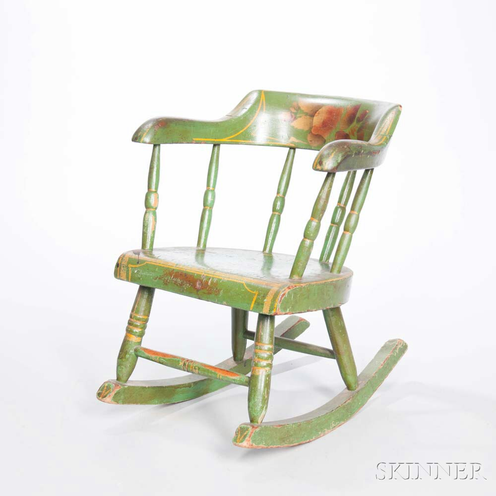 Paint-decorated Child's Rocking Chair