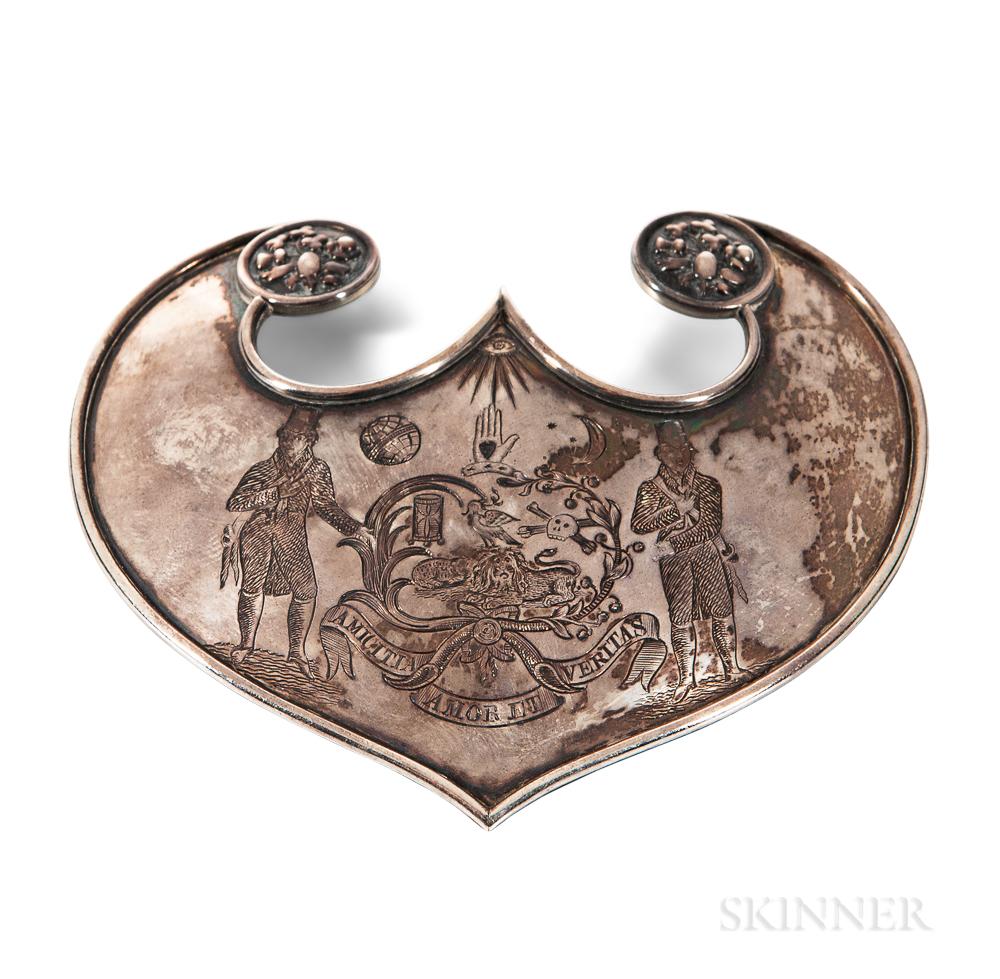 Engraved Silver Fraternal Ceremonial Gorget
