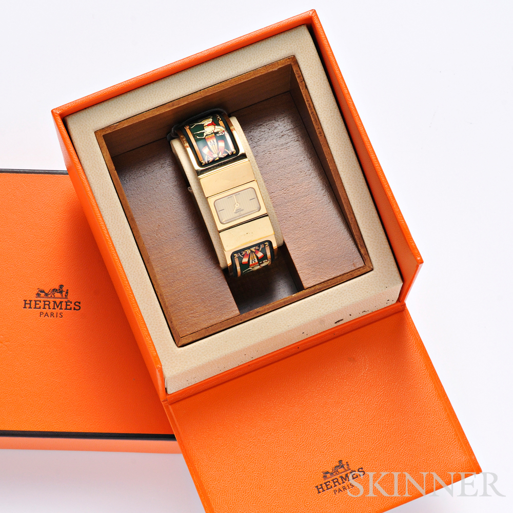 Enamel Bangle Watch, Hermes