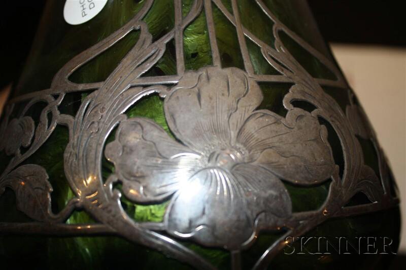 Loetz Titania Silver Overlay Vase Sale Number 2626b Lot Number