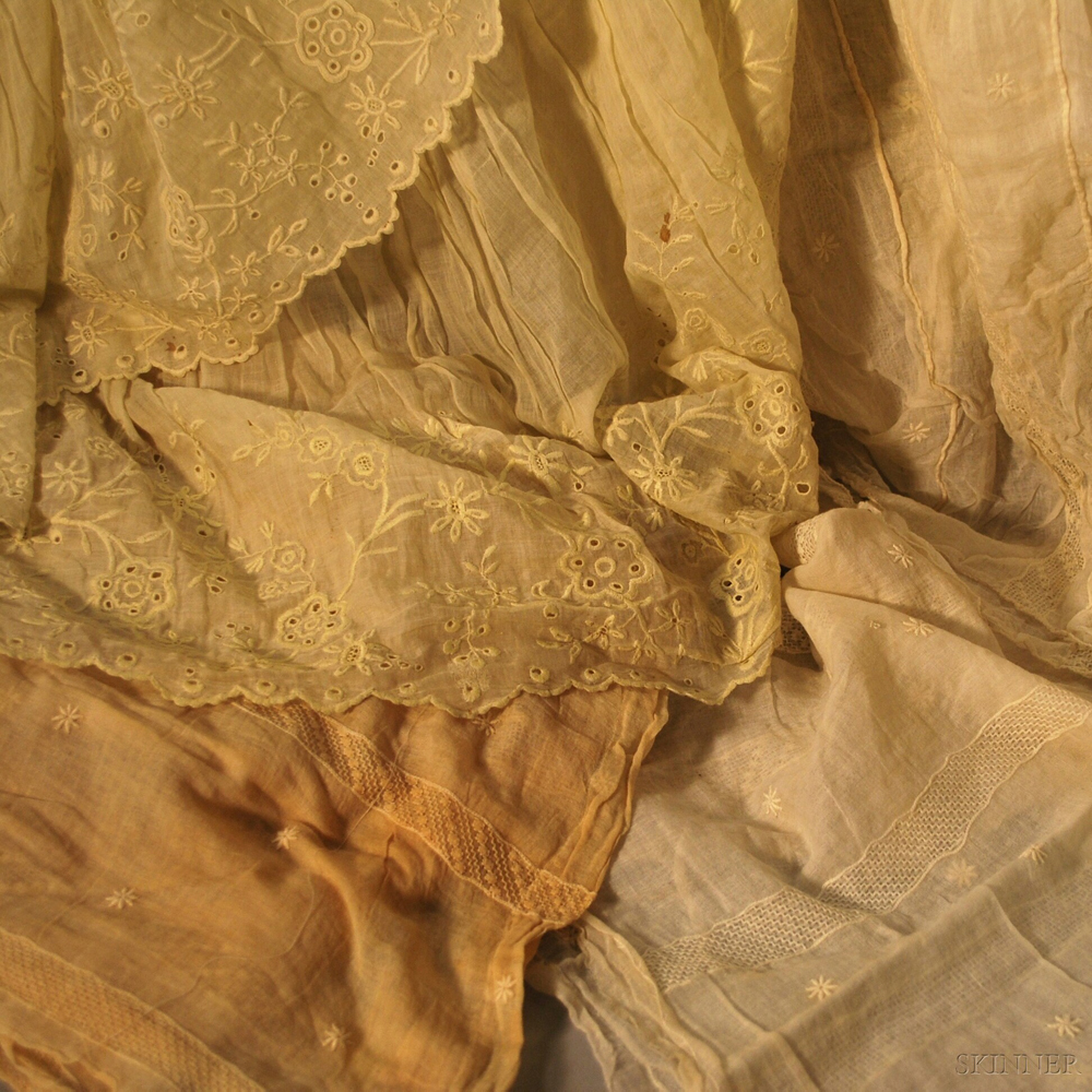 Eleven Cotton, Mull, and Muslin Garments and Fragments