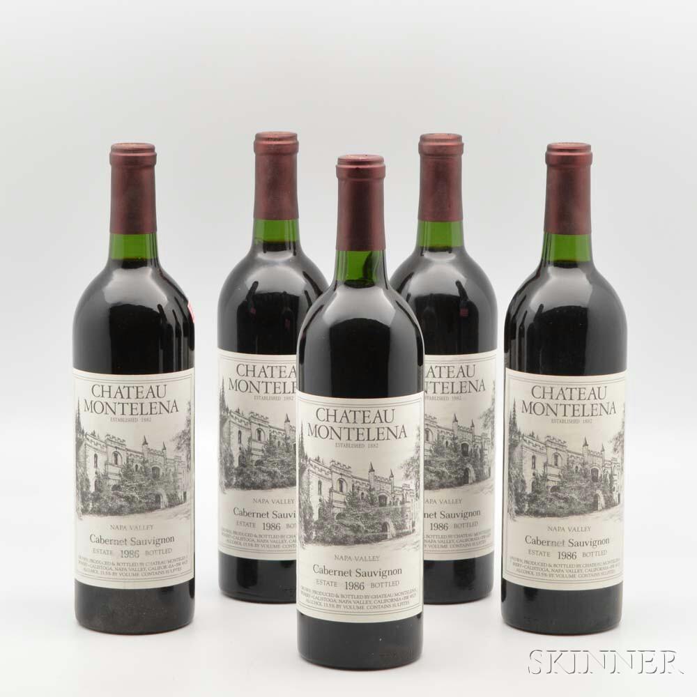 Chateau Montelena Napa Cabernet Sauvignon 1986, 10 bottles