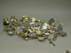 Approximately Sixty Pieces of Sterling and Silver Flatware and Other Items.