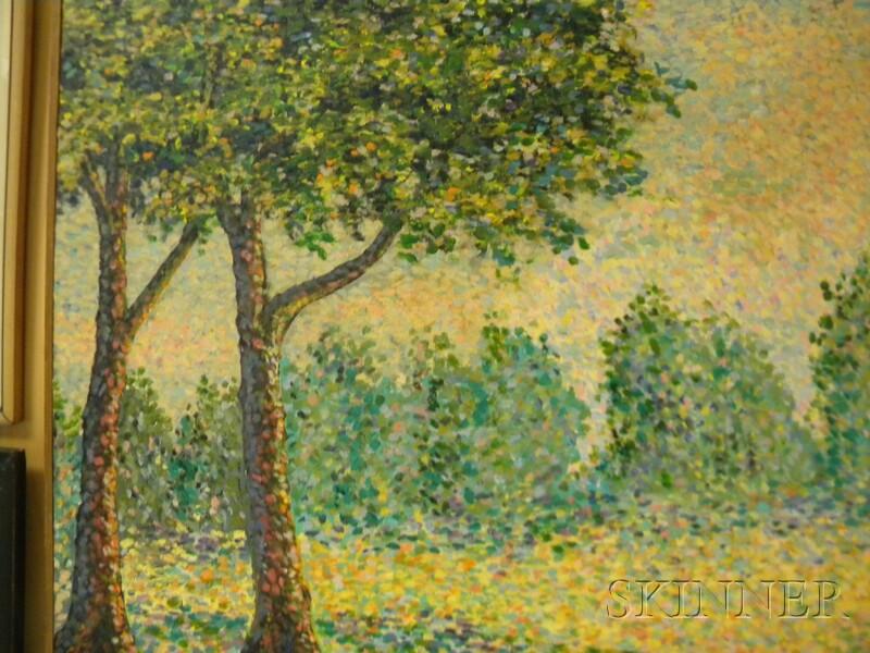 French School, 20th Century      Pointillist Landscape in Summer