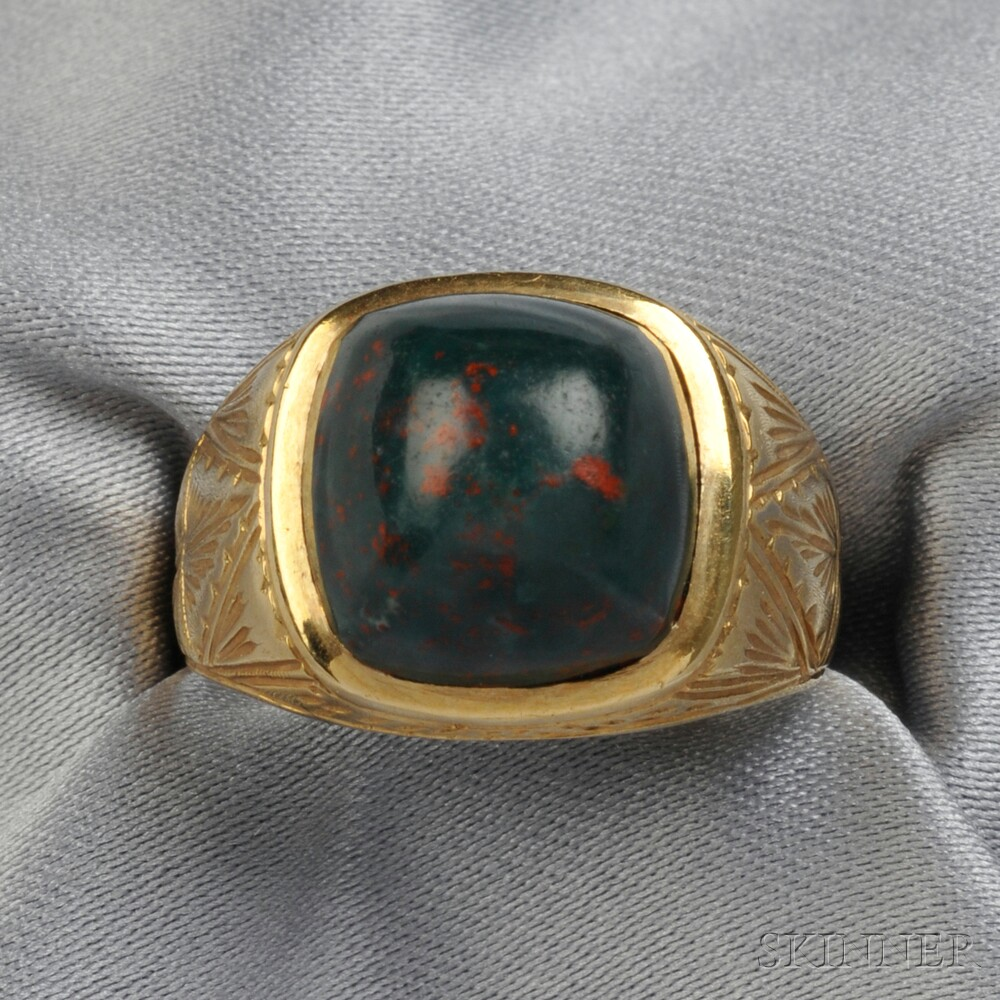 14kt Gold and Bloodstone Ring   Sale Number 2711B, Lot