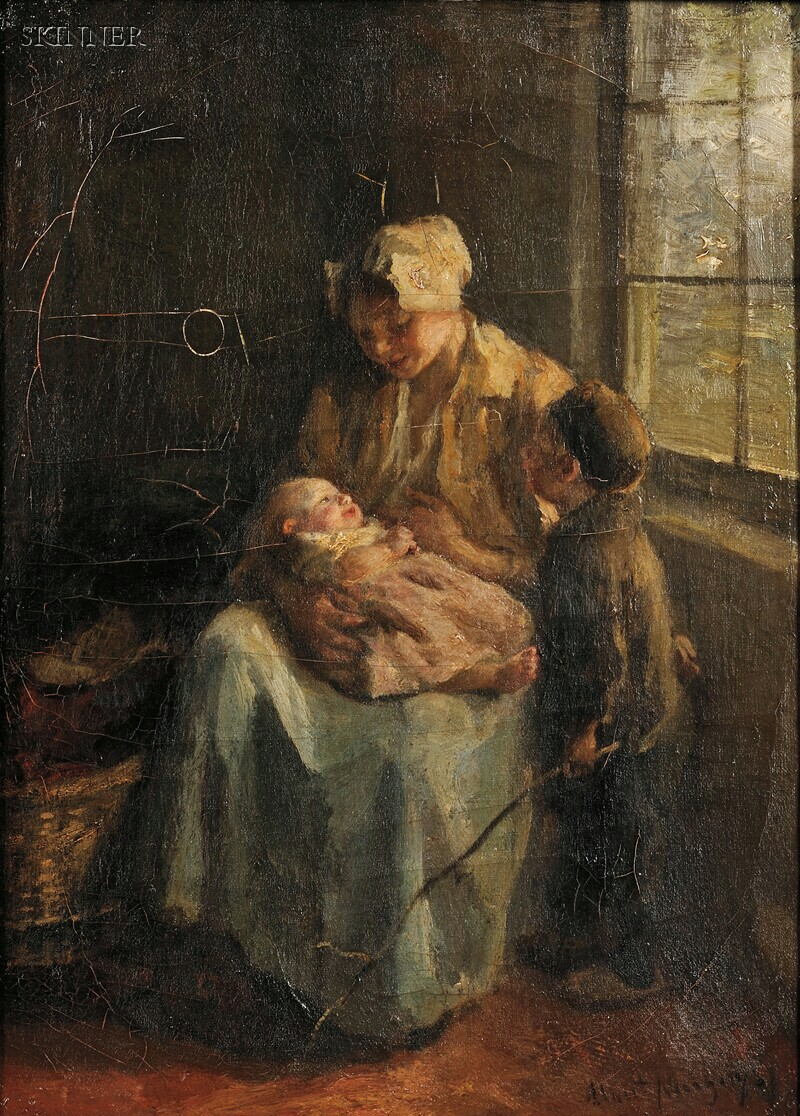 Albert Neuhuys (Dutch, 1844-1914)      A Mother's Love