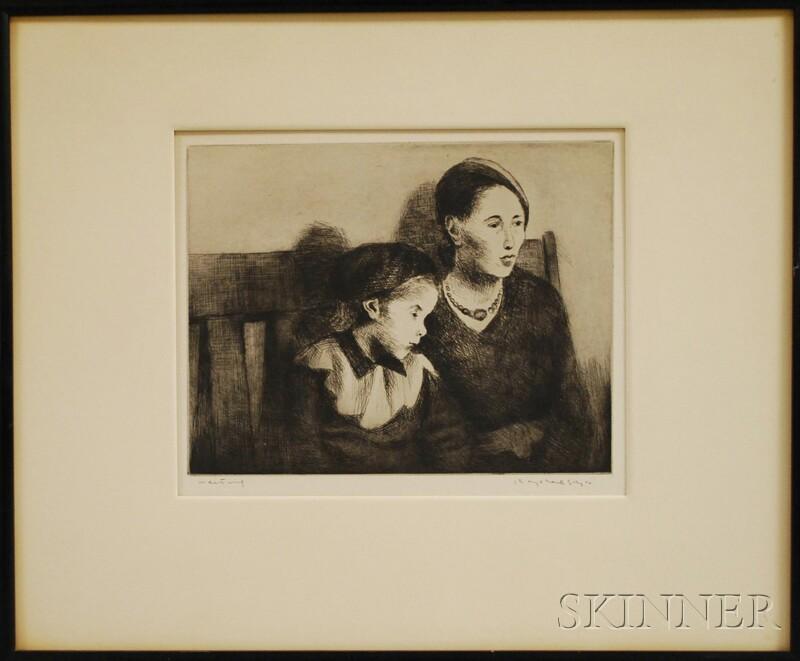 Raphael Soyer (American, 1899-1987)      Waiting