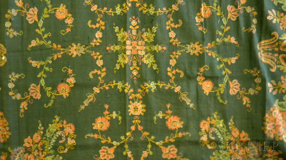 Ten Continental Geometric and Floral-decorated Textiles