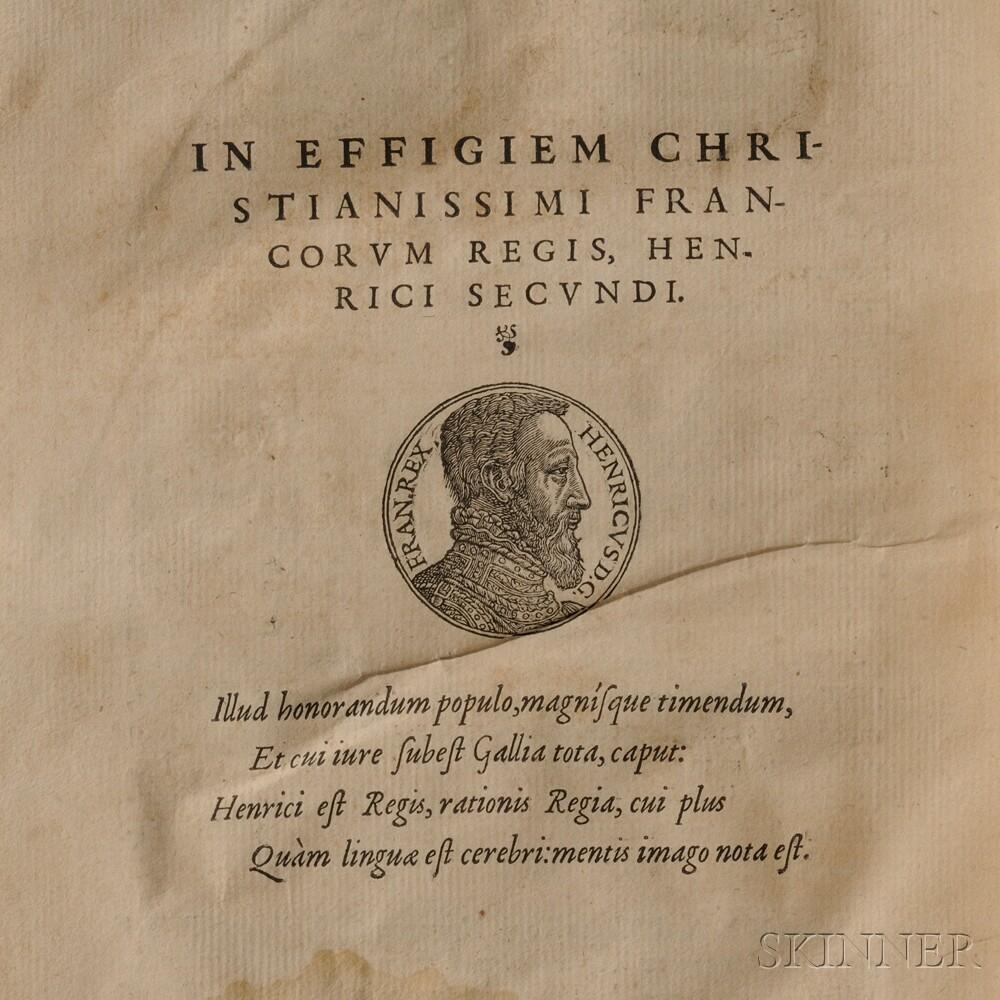 Rouillé, Guillaume (c. 1518-1589) Prima [et Secunda] Pars Promptuarii Iconum Insigniorum a Seculo Hominum