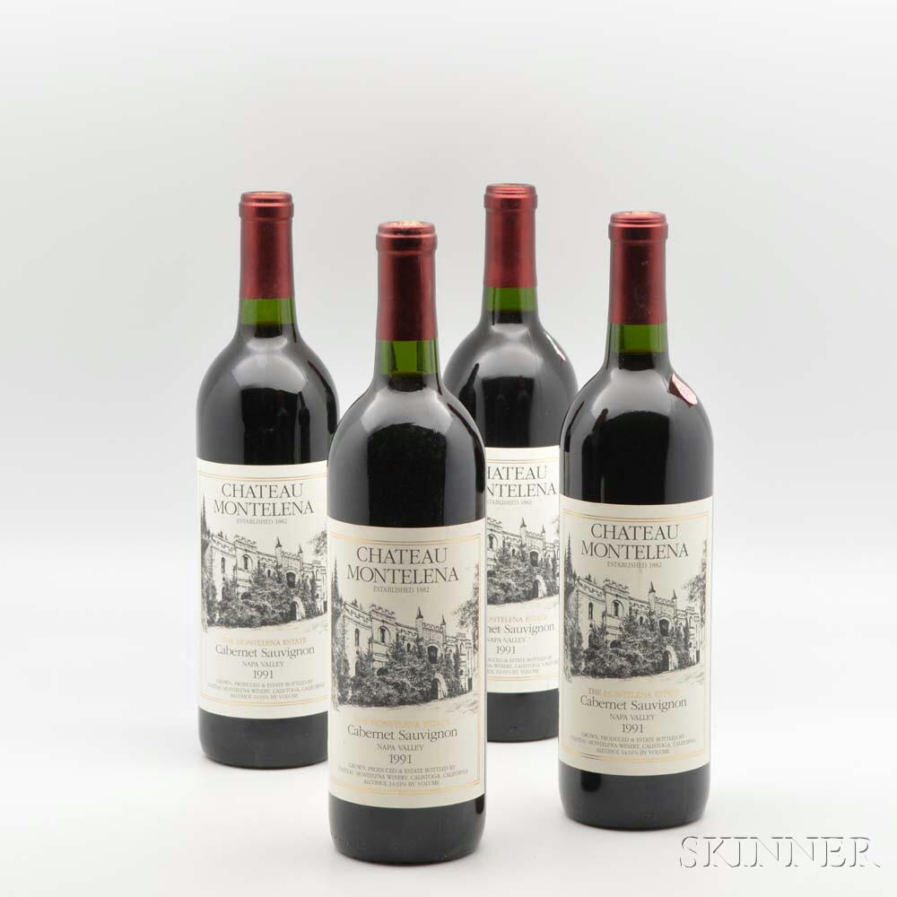 Chateau Montelena Estate Cabernet Sauvignon 1991, 11 bottles