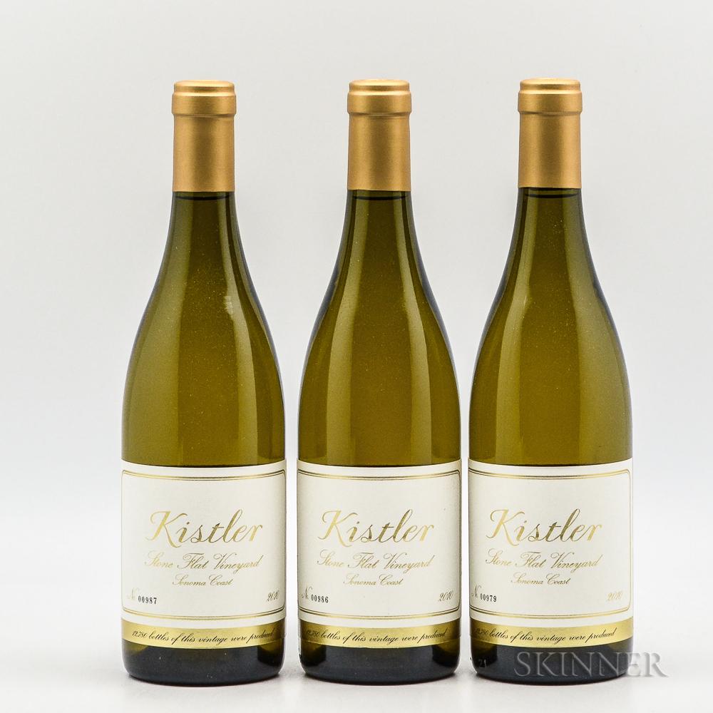 Kistler Stone Flat Chardonnay 2010, 3 bottles