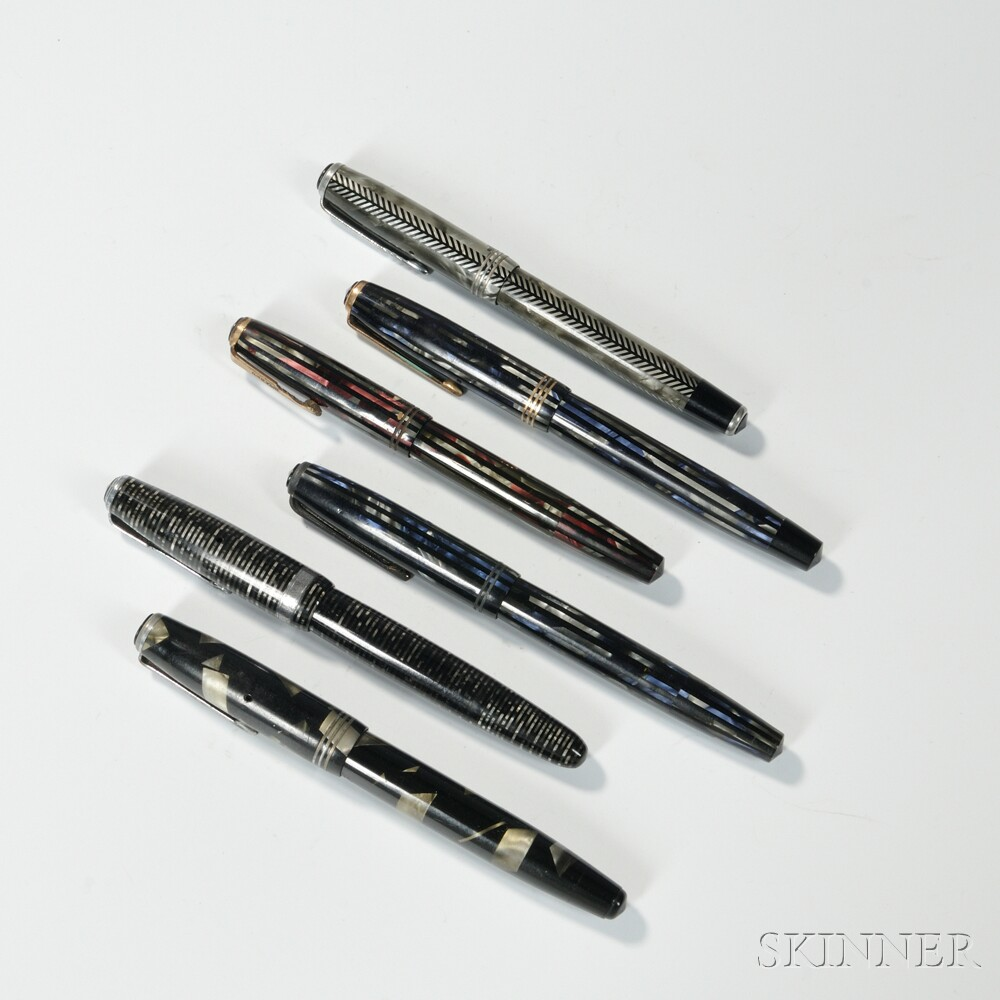 Royal Challenger and Five Other Parker Fountain Pens