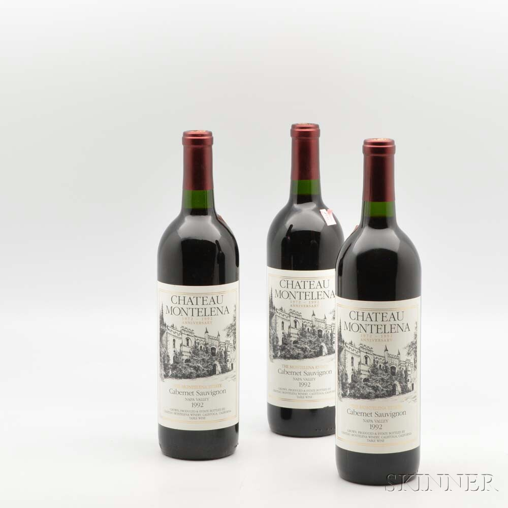 Chateau Montelena Estate Cabernet Sauvignon (1972-1992 Anniversary) 1992, 11 bottles