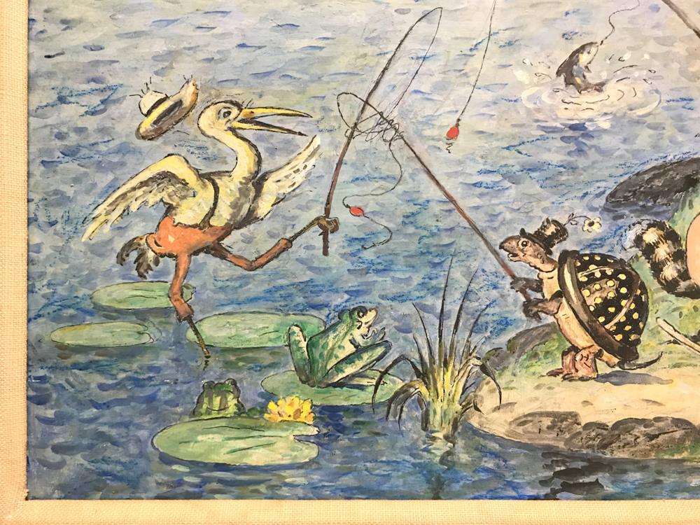 Walter Harrison Cady (American, 1877-1970)      Gone Fishing