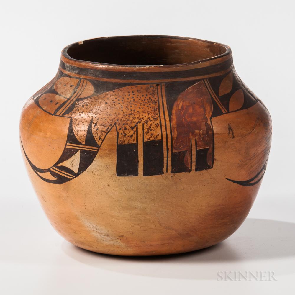 Hopi Polychrome Pottery Jar