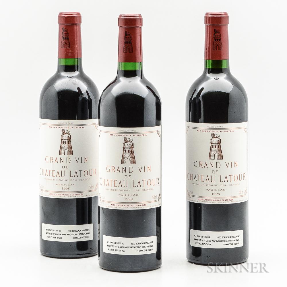 Chateau Latour 1998, 3 bottles