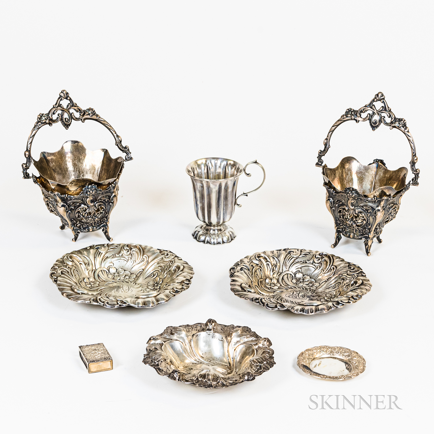 Group of Sterling Silver, .800 Silver, and Silver-plated Tableware