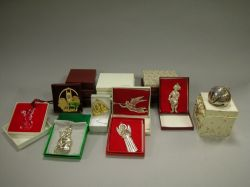 Collection of Sixteen Sterling Silver Christmas Ornaments