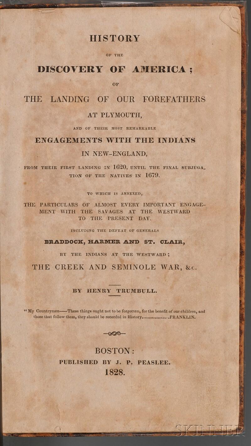 (Native American), Trumbull, Henry, Jr.
