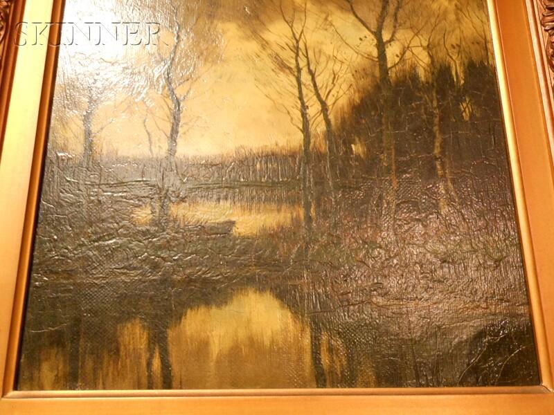 Arnold Marc Gorter (Dutch, 1866-1933)      Landscape at Dusk