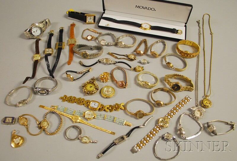 Group of Lady's and Gentleman's Mostly Fashion Wristwatches
