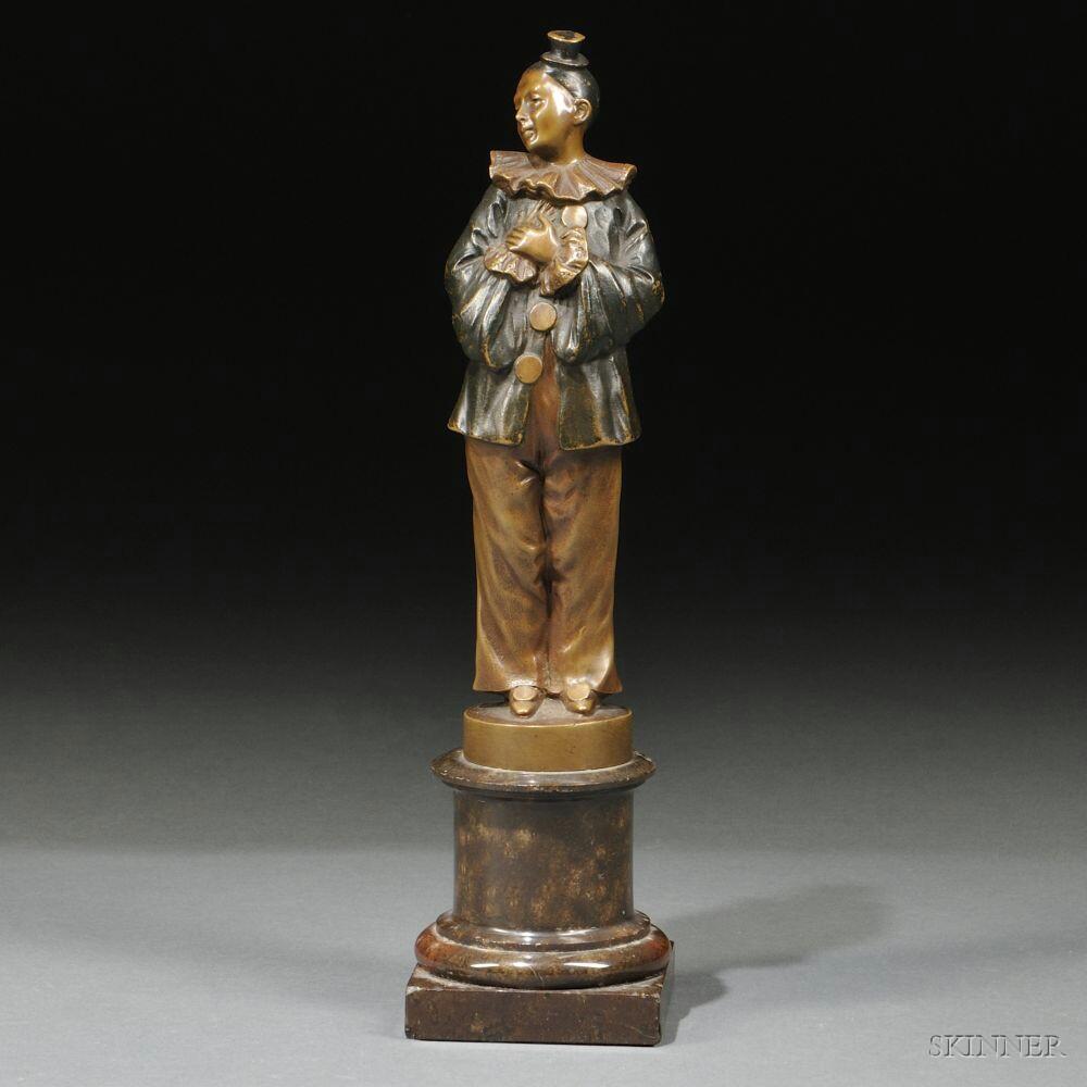 Martin Meyer-Pyritz (German, 1870-1942)       Standing Figure Dressed as a Pensive Clown
