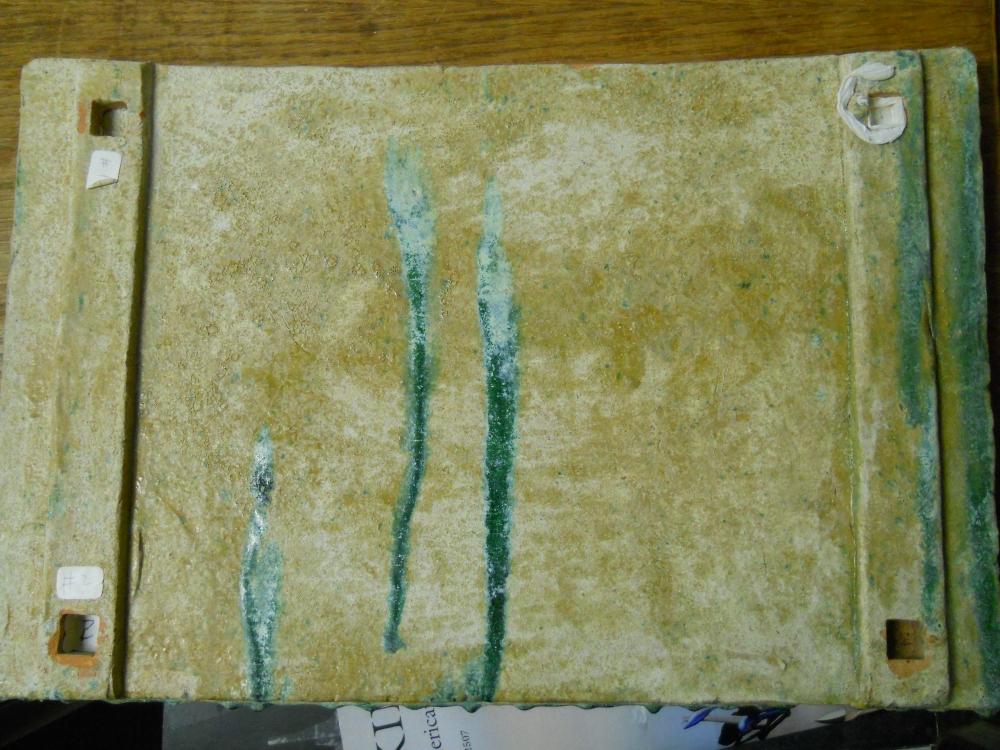 Green-glazed Pottery Tray