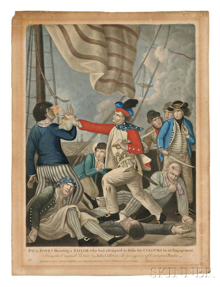 Collett, John (1720-1780) Paul Jones Shooting a Sailor Who Had Attempted to Strike his Colours in an Engagement.