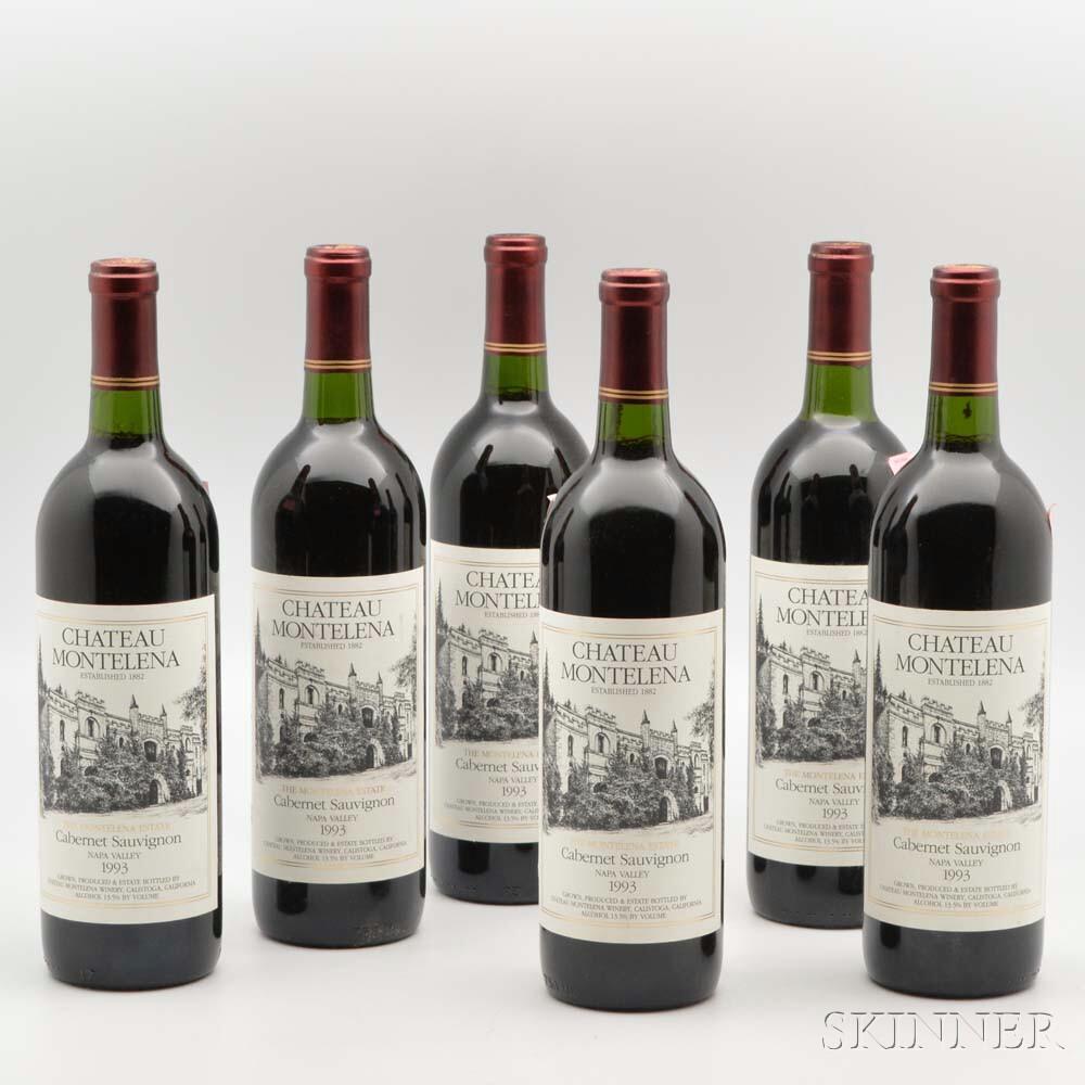 Chateau Montelena Estate Cabernet Sauvignon 1993, 6 bottles