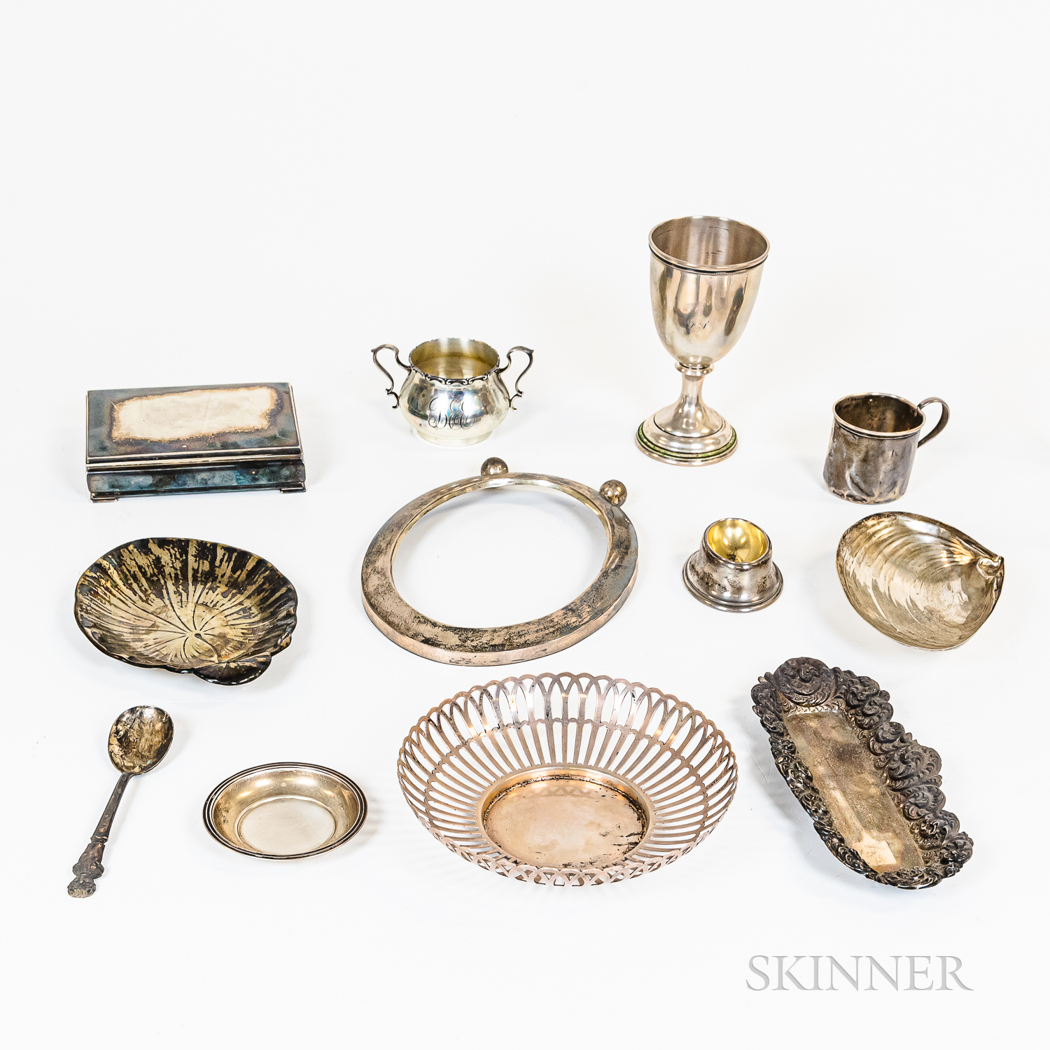 Group of Sterling Silver and Silver-plated Hollowware