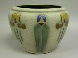 Roseville Pottery Mostique Pattern Jardiniere Sale Number 2201