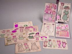 Lot of Seven Paper Doll Postcards