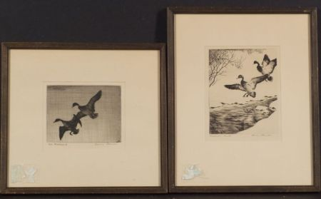 Hans Kleiber (German/American, 1887-1967)    Lot of Two Waterfowl Images:  Two Mallards