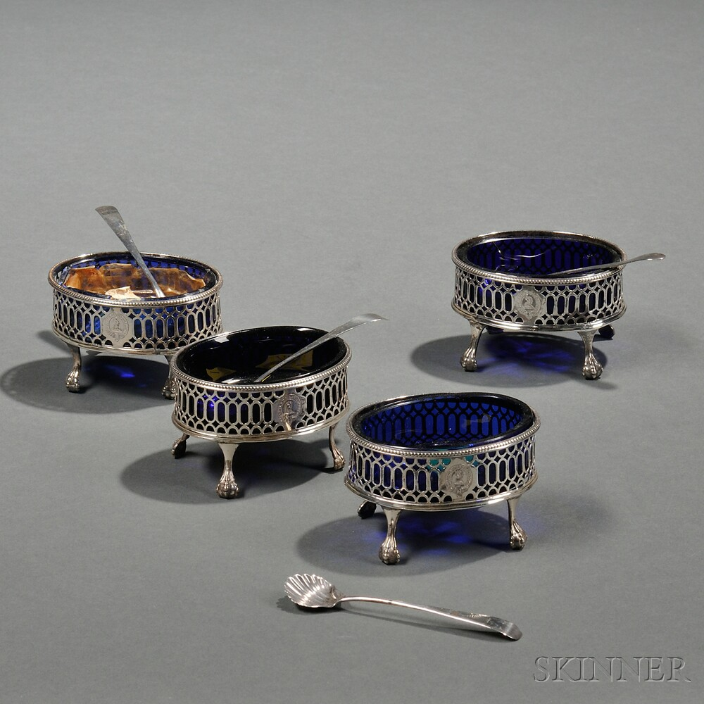 Four George III Sterling Silver Salts