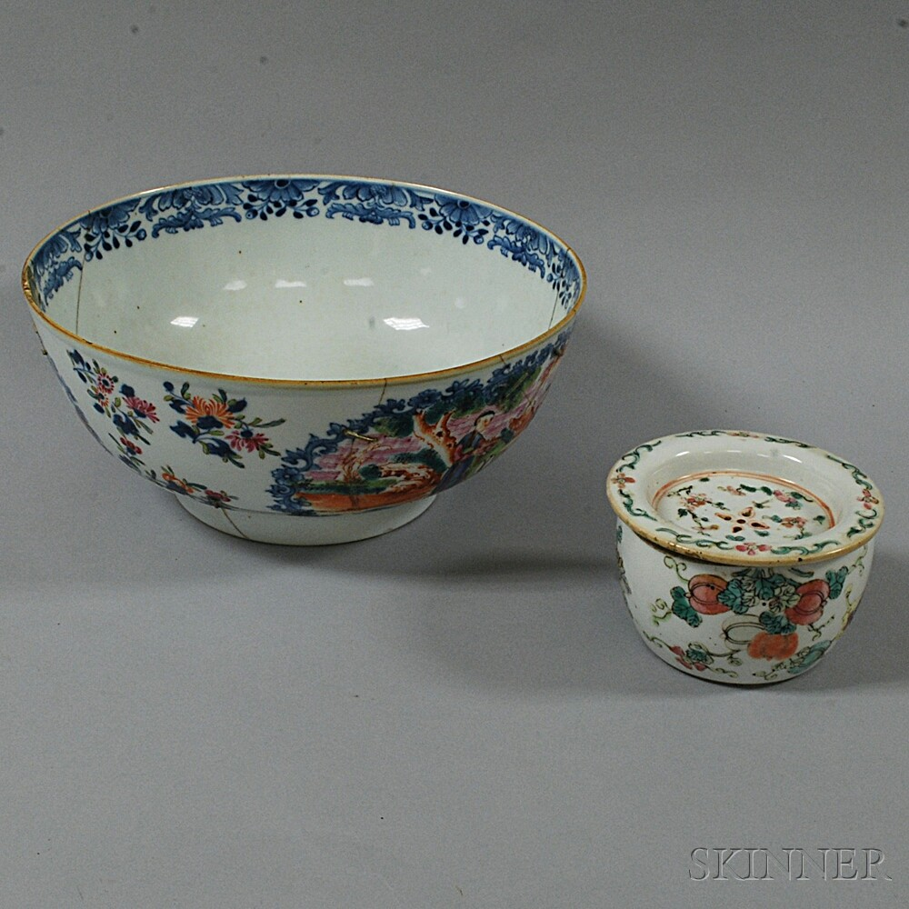 Two Enameled Ceramic Items