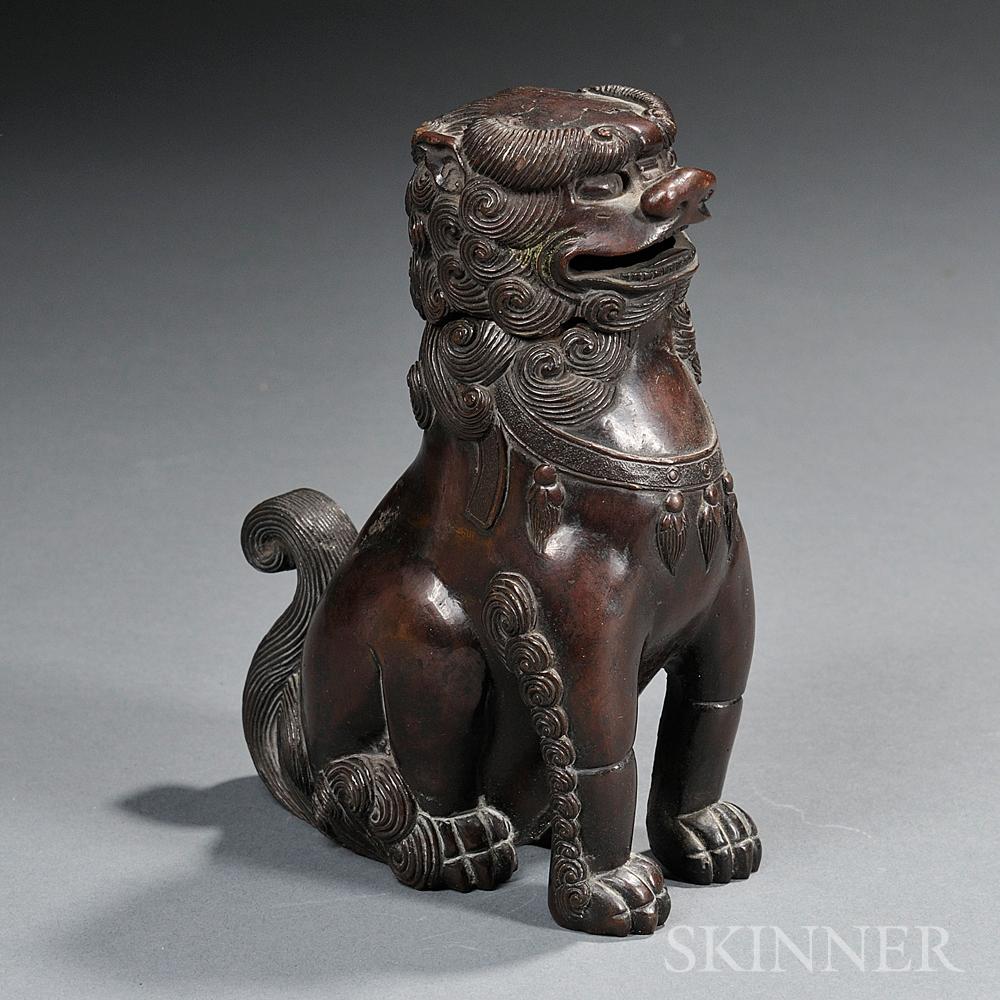 Bronze Buddhist Lion Censer