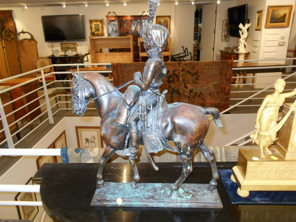 Two Hussar Bronze Groups