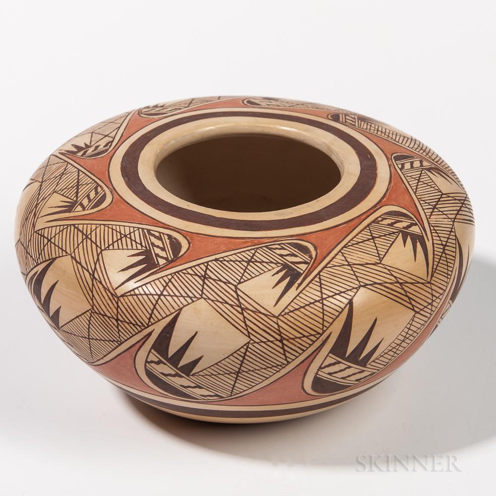Contemporary Hopi Pottery Seed Jar