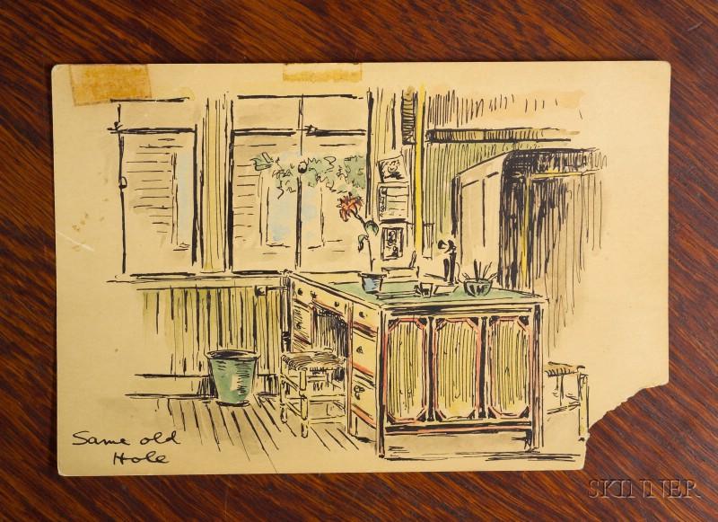 Wallace Nutting's Quarter-sawn Oak Chest Desk