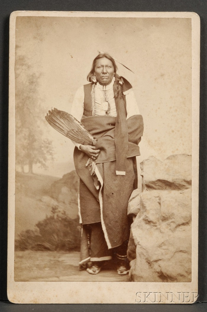 Cabinet Card of a Sioux Chief